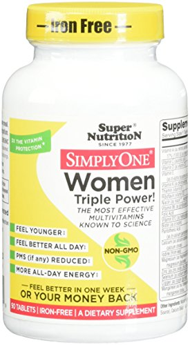 SuperNutrition Simply One Women's Iron-Free Multivitamin Tablet, 90 Count (Super Nutrition Simply One compare prices)