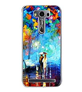 Bright Multi Colour Painting 2D Hard Polycarbonate Designer Back Case Cover for Asus Zenfone 2 Laser ZE500KL (5 INCHES)