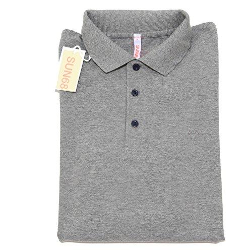 4351I polo uomo grigio SUN 68 manica lunga maglie t-shirts men [S]