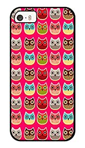 """Humor Gang Happy Owls Printed Designer Mobile Back Cover For """"Apple Iphone 5-5s"""" (3D, Glossy, Premium Quality Snap On Case)"""