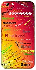Bhairavi (Popular Girl Name) Name & Sign Printed All over customize & Personalized!! Protective back cover for your Smart Phone : Samsung Galaxy E5