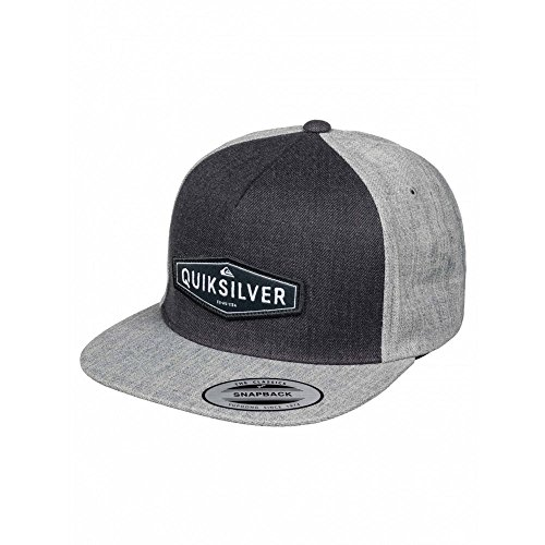 QUIKSILVER CRESTED CAP SNAPBACK HAT DARK CHARCOAL SS 2016