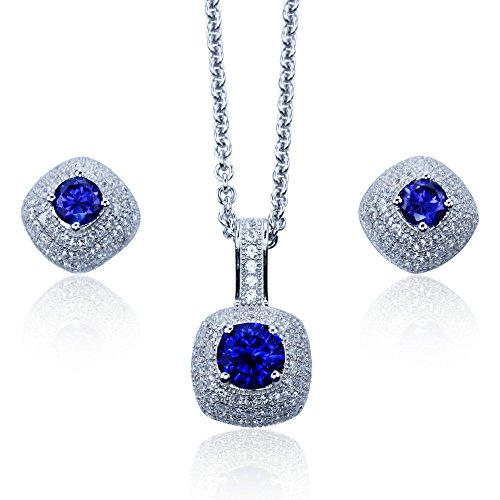 lab-created-blue-sapphire-pendant-earring-set-with-simulated-diamonds-in-sterling-silver-with-18-cha
