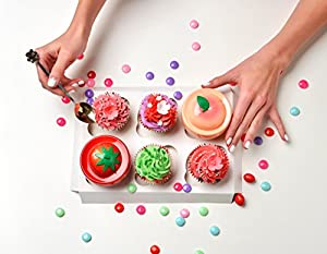 116 Russian Piping Tips Set Cake Decorations Kit Include 56 Icing Nozzles Piping,4 Sphere Ball Tips,2 leaf tips,50 Disposable Pastry Bags & Silicon Pastry Bag,Single & Tri Color Coupler,Cleaning Brush (Color: Silver)