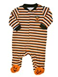 Happy Halloween Infant Bodysuit Stripe Orange Black Pumpkin Sleeper Baby Costume