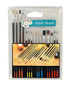 Assorted Artist Paint Brushes 15-PIECE Kit Set