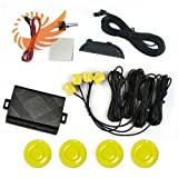 51h uAr SWL. SL160  4 Parking Sensors Car Reverse Backup Radar Sound Alert Buzzer Security Yellow