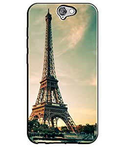 EU4IA Beautiful Effil Tower Pattern MATTE FINISH 3D Back Cover Case For HTC ONE A9 - D279