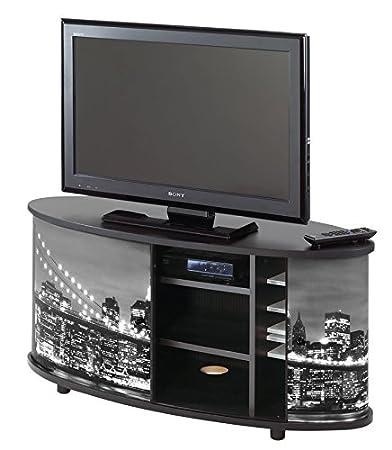 TV Stand–New York–Brooklyn Bridge–Black