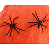 DAYAN Nueva Decoracion Atrezzo Halloween aranas estirables Telarana color naranja