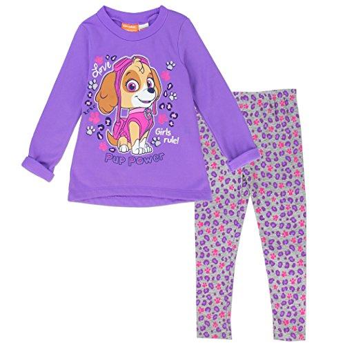 PAW PATROL Girls Toddler 2 Piece Fleece Legging Set Purple or Pink