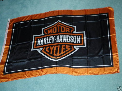 NEOPlex 3' x 5' Harley Davidson Shield Black Flag