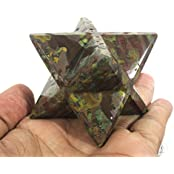 Poppai Jasper Merkaba Star Large Crystal Sacred Geometry Reiki Point 8 Healing