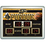 "19"" NCAA Purdue Boilermakers Scoreboard Wall Clock with Date and Temperature at Amazon.com"
