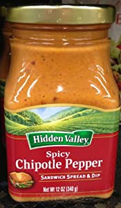 Hidden Valley Ranch Sandwich Spread Dip Spicy Chipotle Pepper 12 Oz Pack Of 3