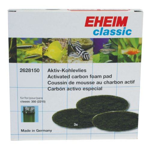 EHEIM Activated Carbon Pad for Classic External Filter 2628150 (3 Pieces) (Carbon Pads compare prices)