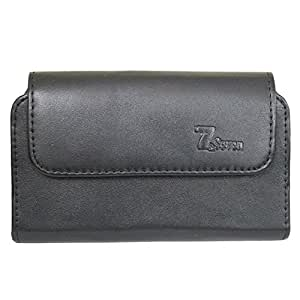 A1 Horizontal Leather Carry Case Mobile Pouch Premium Cover Holder For Panasonic Eluga I3 Black