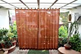 HIPPO Outdoor Curtains - Brown Colour - Full Size (2 Nos. x 4.0 Ft x 7.5 Ft)