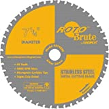 Saw Blade: Champion Rs748ss Rotobrute 7-1/4-inch 48 Tooth Tcg Stainless Steel Cutting Saw Blade With 20-millimeter Arbor By Champion - Model: Rs748ss