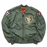 (アビレックス)AVIREX L-2 ジャケット フライト フライングタイガー PATCHED ミリタリー 6162163 L 73セージグリーン