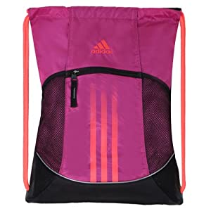 Adidas Alliance Sackpack, Vivid Pink/Purple Zest, One Size Fits All