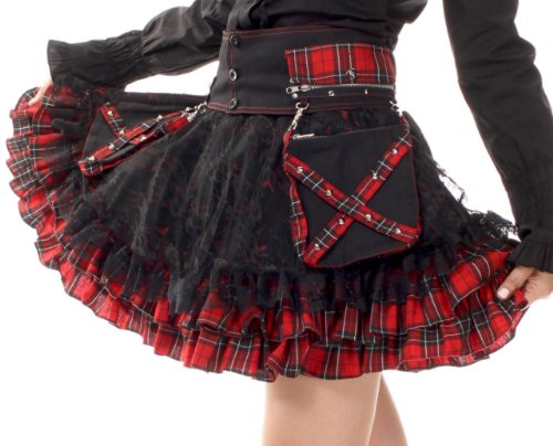 Lolita-Charm-Womens-Punk-Lolita-Nana-Skirt