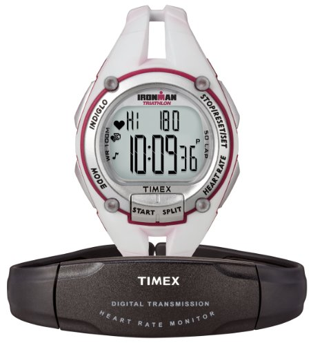 Cheap Timex Women's Ironman® Road Trainer with Digital Heart Rate Monitor, White (B0069WR9UM)