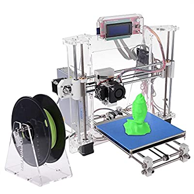New 3D Printer Kit LCD Screen DIY Reprap Prusa I3 Self-assembly 175mm PLA ABS Filament