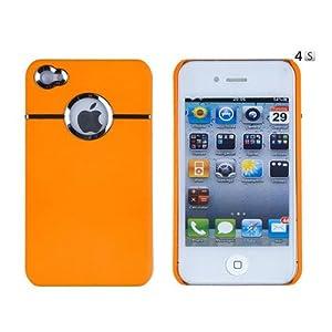SODIAL(TM) Orange Chrome Case for Apple iPhone 4, 4S (AT&T, Verizon, Sprint)