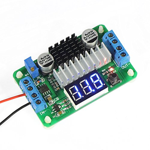 DROK® LTC187 DC convertitore boost 3.5-30V 100W Alimentazione di tensione 5V/12V Step Up Volt Modulo con voltmetro Input / Output alternativo display a LED per Auto Motor Auto Moto, etc