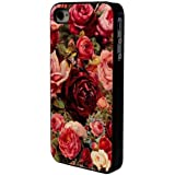 Jahrgang Roses Flowers Retro Shabby Chic Vintage Design iphone 4 4S Case Back Cover Metall und Kunststoff