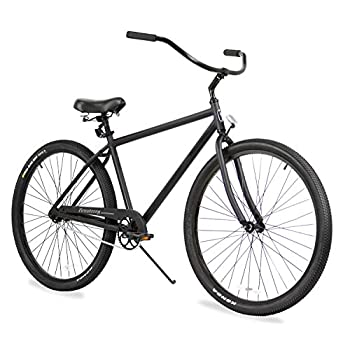 Firmstrong Black Rock Men's Single Speed Beach Cruiser Bicycle, 29-Inch, Matte Black