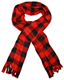 Outer Rebel Fashion Plaid Acrylic Scarf- Red/Black