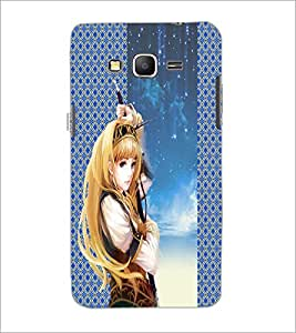 PrintDhaba Warrior Girl D-5012 Back Case Cover for SAMSUNG GALAXY GRAND PRIME (Multi-Coloured)