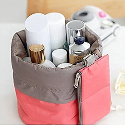 Contever® Multi-pockets Spacious Cosmetic Bag Travel Camping Toiletry Organizer Wash Bag Makeup Storage Bag Travel Essential Bag with 1 x Small Zipper Pocket ,1x Transparant PVC Pouch