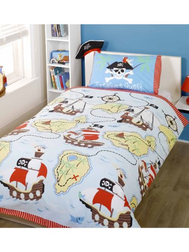 parure de lit housse couette 1 taie d oreiller pirate 1 personne enfant hyuai bogs. Black Bedroom Furniture Sets. Home Design Ideas