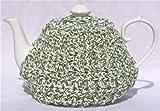 Crochet Tea Cozy Cosy Handmade Washable Green and White