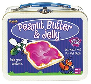 POOF-Slinky 0X4264 Ideal Peanut Butter and Jelly Card Game with Mini Collectible Tin Lunch Box Storage Container, 54-Colorfully Illustrated Cards by Fundex Games TOY (English Manual)