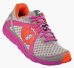 Pearl Izumi Women\'s EM Road H 3 Shoes Grey / Raspberry Rose 06.0 & Glove Bundle