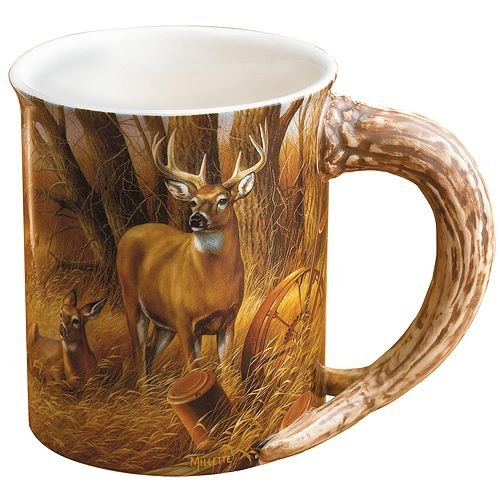 Whitetail Deer Sculpted Mug