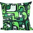 8/29 Cartoon Bird Green Polyester Decorative Pillow Cover
