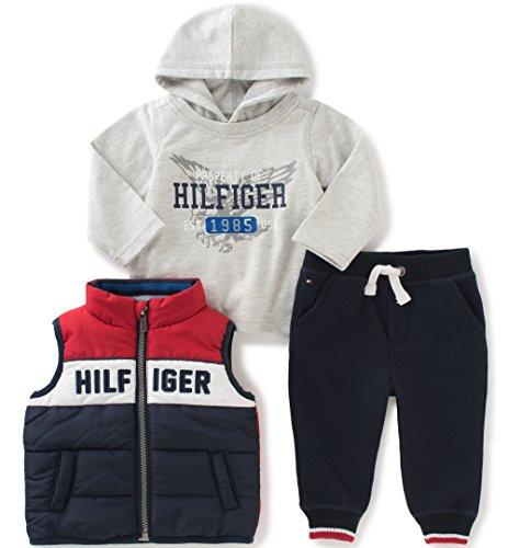 Tommy Hilfiger Boys Toddler 3 Pieces Vest Pants Set