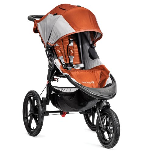 Baby Jogger Summit X3 Single Stroller, Orange/Gray front-920335