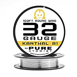 Pure Atomist 32 AWG Gauge A1 Wire 100\' Roll .20mm , 13.75 Ohms/ft Resistance