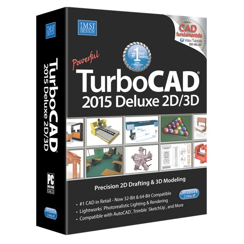Turbocad Deluxe 2015 Affordable 2d Drafting 3d