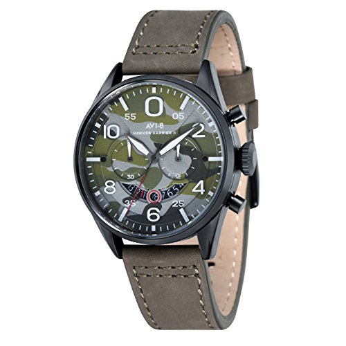 avi-8-av-4031-08-cronografo-da-polso-analogico-da-uomo-cinturino-in-pelle-colore-verde