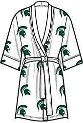 NCAA Michigan State Spartans Ladies Kimono Robe - White