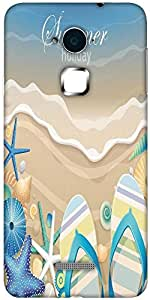 Snoogg Summer Holiday Solid Snap On - Back Cover all Around protection For Coolpad Note 3 (White, 16GB)