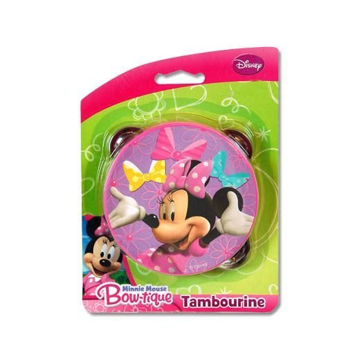 disney minnie mouse bowtique pretend play toy tambourine disney toy story. Black Bedroom Furniture Sets. Home Design Ideas