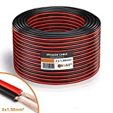 MANAX Lautsprecherkabel rot/schwarz 2x1,5mm² 30m Ring
